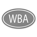 WBA Oval Decal