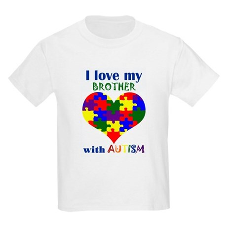 I love my BROTHER with Autism Kids Light T-Shirt
