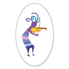 Kokopelli 15 Oval Decal
