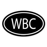 WBC Oval Decal