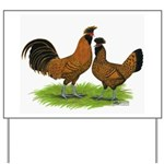 Gold Brabanter Chickens Yard Sign