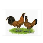Gold Brabanter Chickens Postcards (Package of 8)