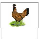Gold Brabanter Hen Yard Sign