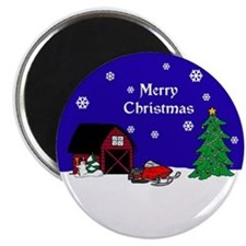 "Snowmobile Christmas 2.25"" Magnet (10 pack)"