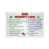 Dog Property Laws 2 Rectangle Magnet