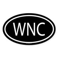 WNC Oval Decal