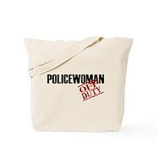 Off Duty Policewoman Tote Bag