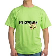 Off Duty Policewoman T-Shirt