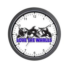 Love The Whales Wall Clock