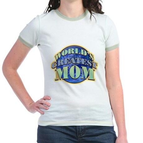World's Greatest Mom Jr. Ringer T-Shirt