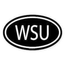 WSU Oval Decal