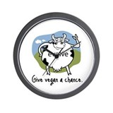 Evolve to Vegan Wall Clock
