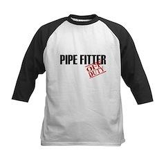 Off Duty Pipe Fitter Kids Baseball Jersey
