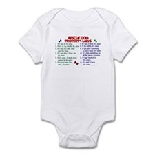 Rescue Dog Property Laws 2 Infant Bodysuit