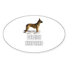 Belgian Shepherd Oval Decal