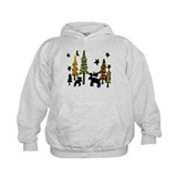 Moose Winter Scene Hoody