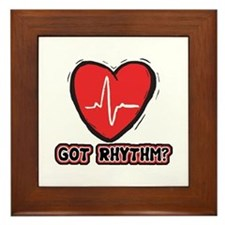 Got Cardiac Rythm? Framed Tile