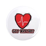 "Got Cardiac Rythm? 3.5"" Button (100 pack)"