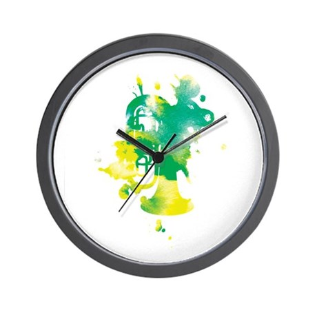 Paint Splat Tuba Wall Clock