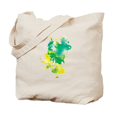 Paint Splat Tuba Tote Bag