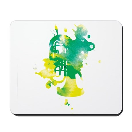 Paint Splat Tuba Mousepad