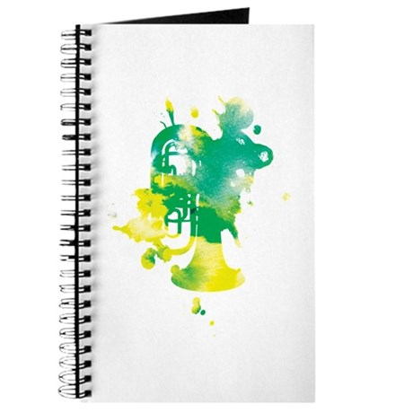 Paint Splat Tuba Journal