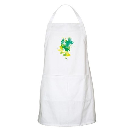 Paint Splat Tuba BBQ Apron