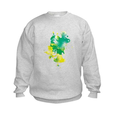 Paint Splat Tuba Kids Sweatshirt