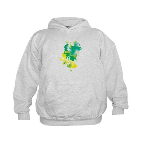Paint Splat Tuba Kids Hoodie