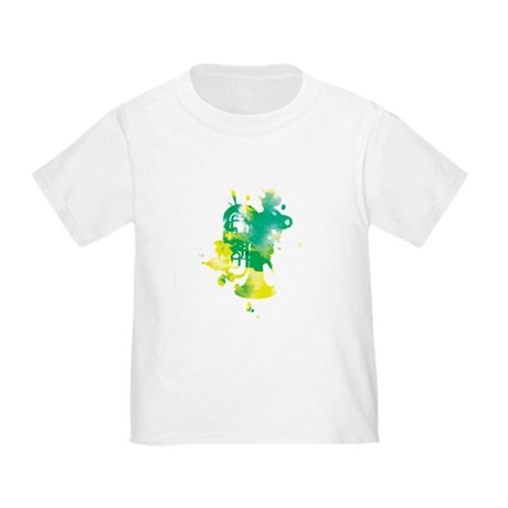 Paint Splat Tuba Toddler T-Shirt