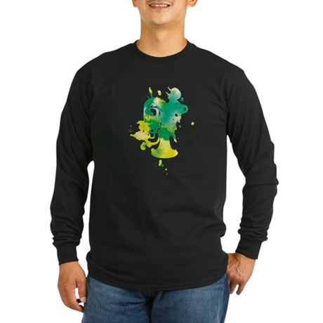 Paint Splat Tuba Long Sleeve Dark T-Shirt