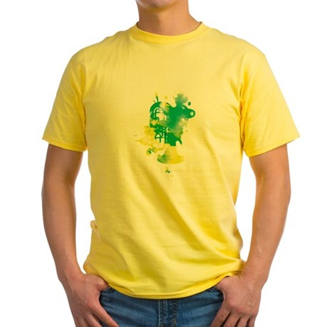 Paint Splat Tuba Yellow T-Shirt
