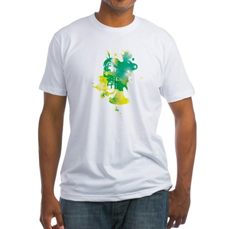 Paint Splat Tuba Fitted T-Shirt