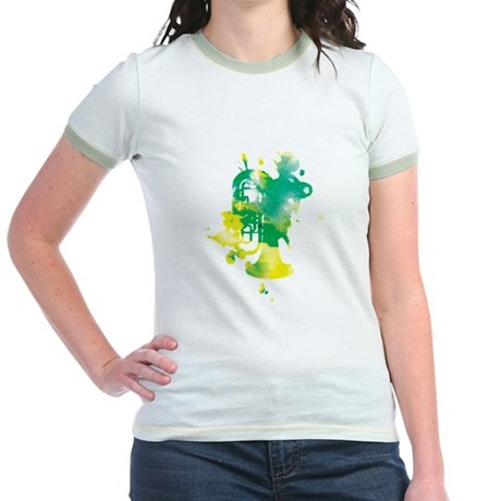 Paint Splat Tuba Jr. Ringer T-Shirt