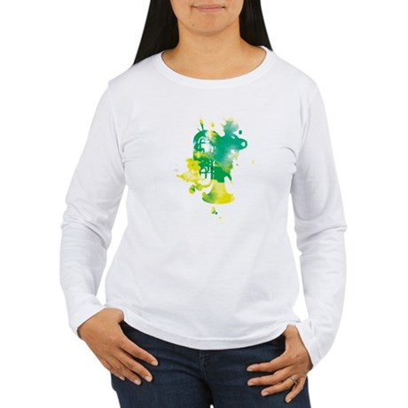 Paint Splat Tuba Women's Long Sleeve T-Shirt