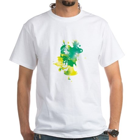 Paint Splat Tuba White T-Shirt