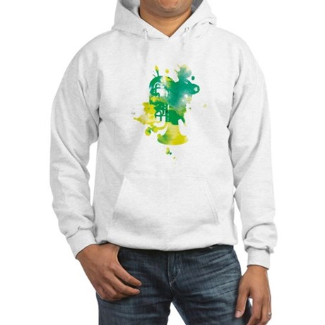 Paint Splat Tuba Hooded Sweatshirt