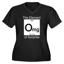 Element OMG Women's Plus Size V-Neck Dark T-Shirt