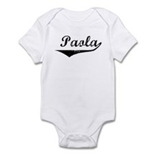 Paola Vintage (Black) Infant Bodysuit