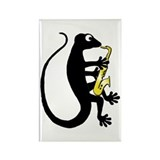 Gecko Saxophone Rectangle Magnet