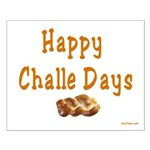 JEWISH HAPPY CHALLE HOLIDAYS Small Poster