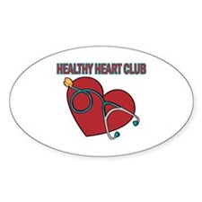 Cardiac Nurses & Patients Oval Decal