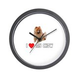 I Love My Chow Wall Clock