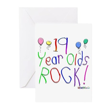 19 Year Olds Rock ! Greeting Cards (Pk of 10)