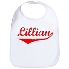 Lillian Vintage (Red) Bib
