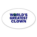 World's Greatest Clown Oval Decal