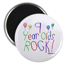 9 Year Olds Rock ! Magnet