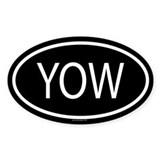 YOW Oval Decal