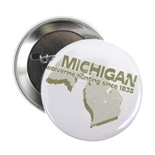 Michigan - wolverine hunting. Button
