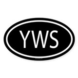 YWS Oval Decal